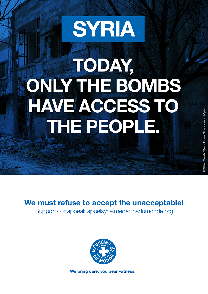 A Call to Syria: Today, only bombs have access to civilians.