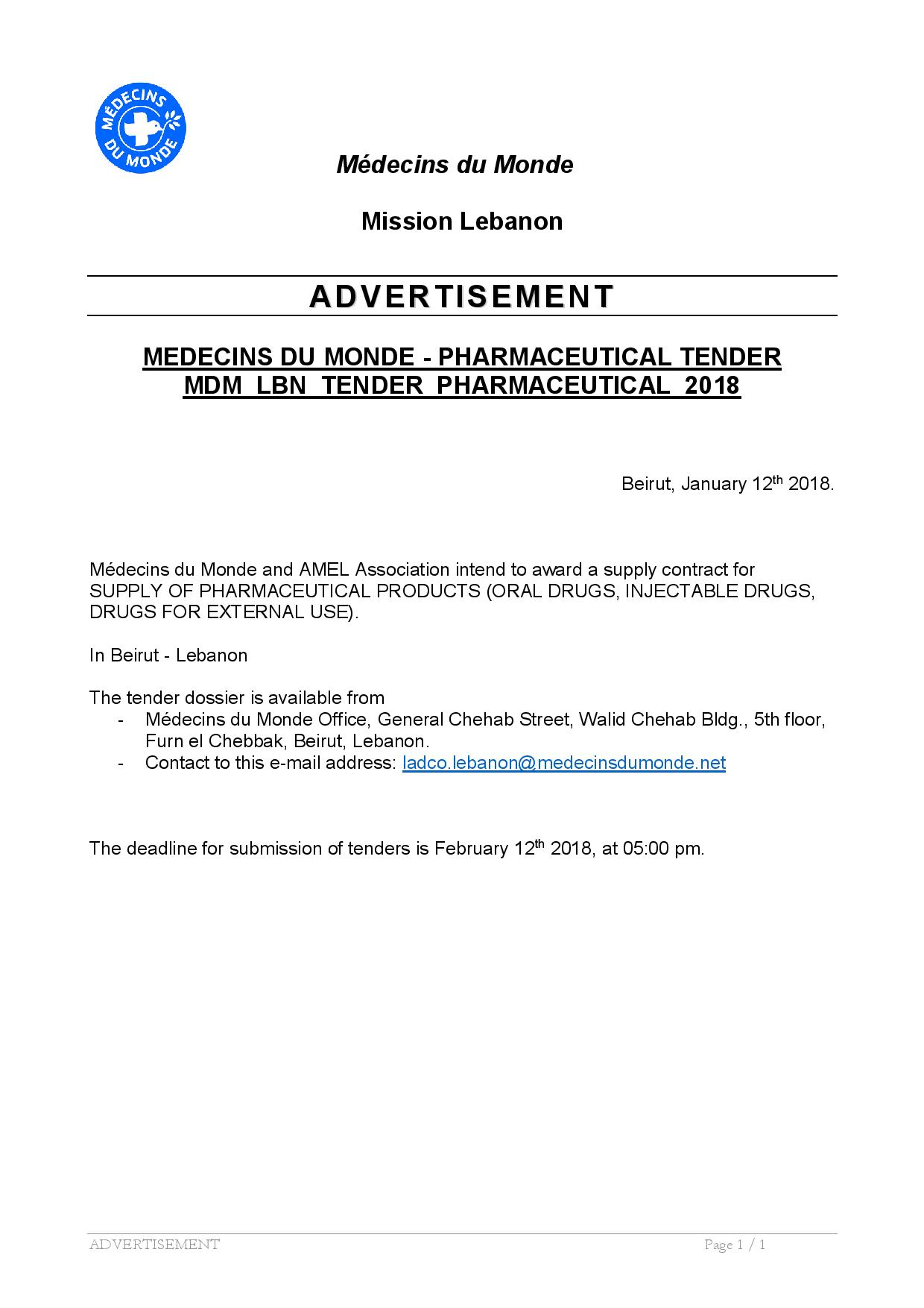 Tender LEB 2018 -03 publication of local advertisement VF-page-001