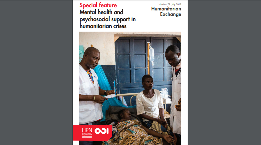 Humanitarian Exchange Magazine | MdM contribution on mental health